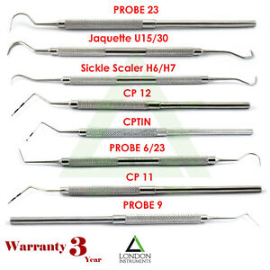 Endodontic-Tooth-Scraper-Plaque-Removal-amp-Color-Coded-Dental-William-Probes