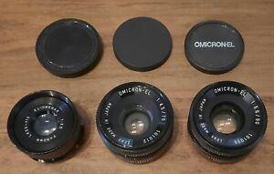 Omega Omicron-EL Enlarging Lenses 50mm, 75mm, 90mm Lot