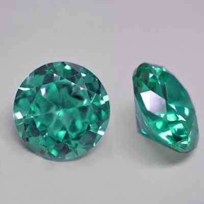 Cubic Zirconia Bright Apple Green Round AAA Rated CZ Loose Stones 1mm - 15mm