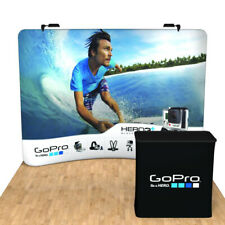 10ft Portable Trade Show Display Backdrop Wall Pop Up Stand Booth Custom Print