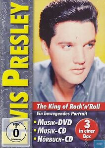 Elvis-Presley-2x-CD-amp-1x-DVD-The-King-of-Rock-039-n-039-roll-toccante-ritratto