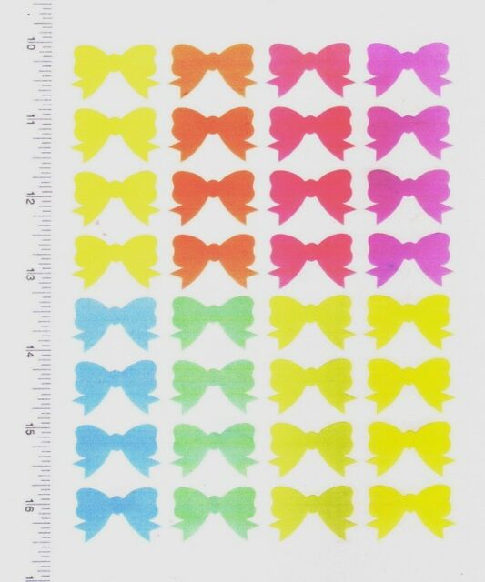 New 32 PASTEL COLOR MIXED BOWS & RIBBON Stickers DECORATE Lady Collection