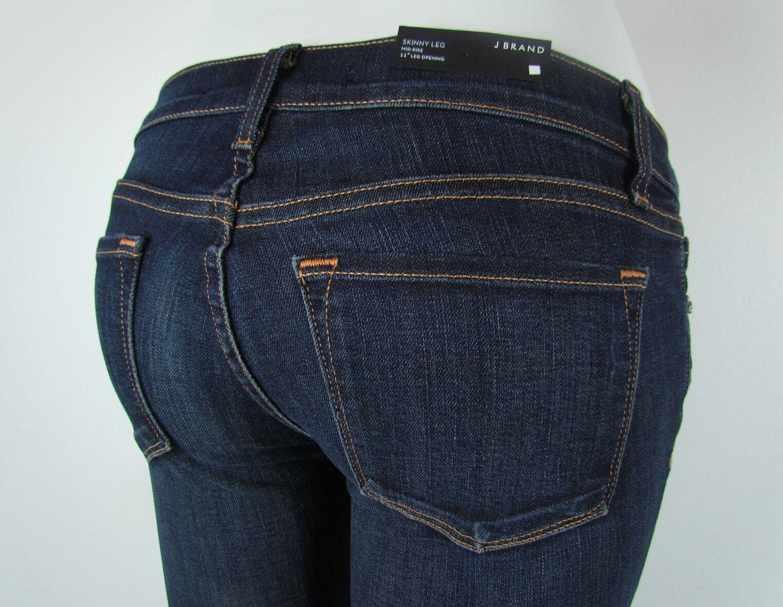 New J BRAND 811 Mid Rise SKINNY LEG Woman Jeans SZ 24 in DARK VINTAGE blueE
