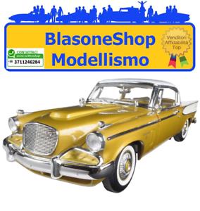 1958-Studebaker-Golden-Hawk-1-18-MODELLINO-Auto-by-Road-Signature-Diecast