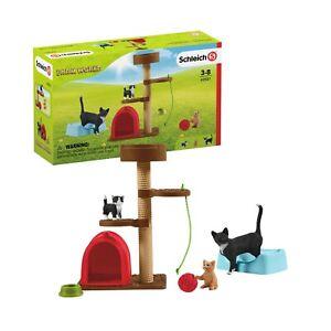Schleich-Farm-World-42501-Spielspass-fuer-niedliche-Katzen-Neu-2020