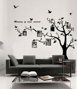 Large Photo Picture Tree Frame Wall Stickers Vinyl Decals Mural Home