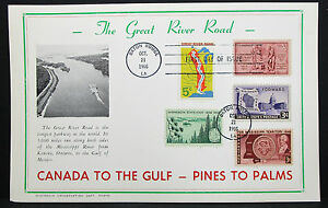 First-Day-of-Issue-FDC-Canada-to-the-Gulf-Great-River-Road-USA-H-7351