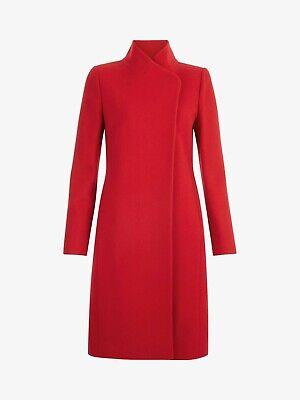 Ex Hobbs Soraya Coat Jacket Merlot Size 16