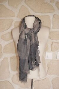 Nouveau 100/% laine cachemire gris clair Femme//Femme Hiver écharpes//étoles//Châles