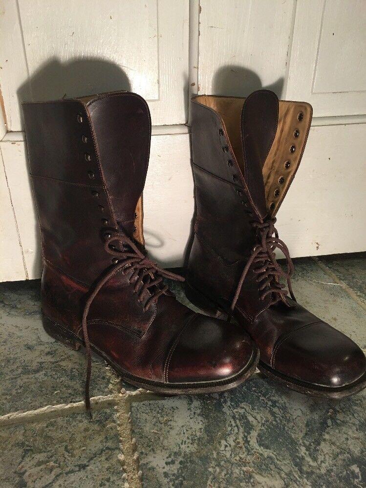 BURBERRY Braun  Leder Lace Ankle Stiefel Size 39 Combat Lace Leder Up ec5890