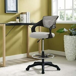 Modway Thrive Drafting Chair Tall Office Chair For Adjustable Standing Desk 889654122685 Ebay