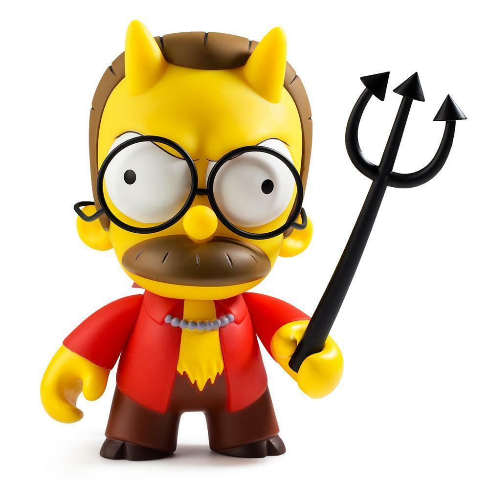 OFFICIAL KIDROBOT x THE SIMPSONS - DEVIL FLANDERS VINYL ART FIGURE [BRAND NEW]