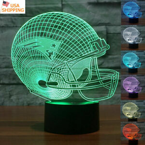 7 COLOR TOUCH SWITCH NEW ENGLAND PATRIOTS 3D LED NIGHT ...