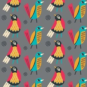 Birds-of-a-Feather-Collection-Flowers-Mustard-Camelot-Cotton-FQ-5-Mtr-Mtr
