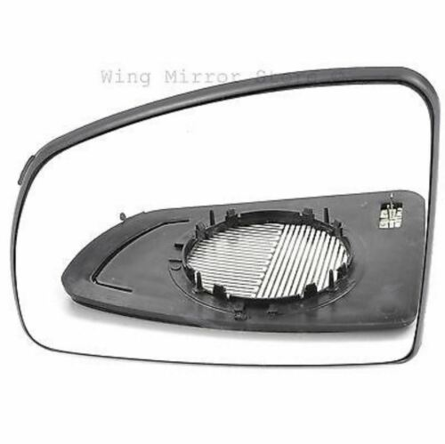 Left Passenger Side WIDE ANGLE HEATED WING MIRROR GLASS Vauxhall Meriva A 02-10