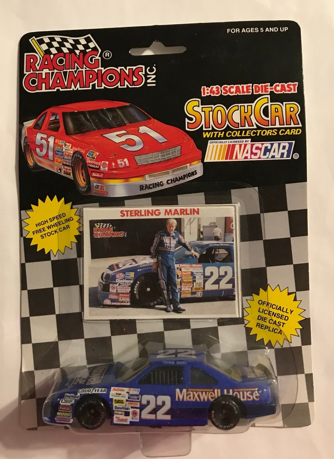 Diecast Toy Vehicles Toys Hobbies Hotwheels Vw Drag Bus Mnm Rare 1992 Racing Champions 22 Sterling Marlin Maxwell House 1 43rd Ford