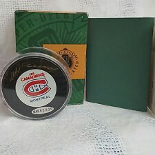 Les Canadiens Montreal hockey puck signed by Y Cournoyer. COA, box and card.