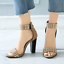 thumbnail 2 - Women's Gladiator Ankle Strappy Spike Open Toe Club Chunky Heel Sandals Shoes