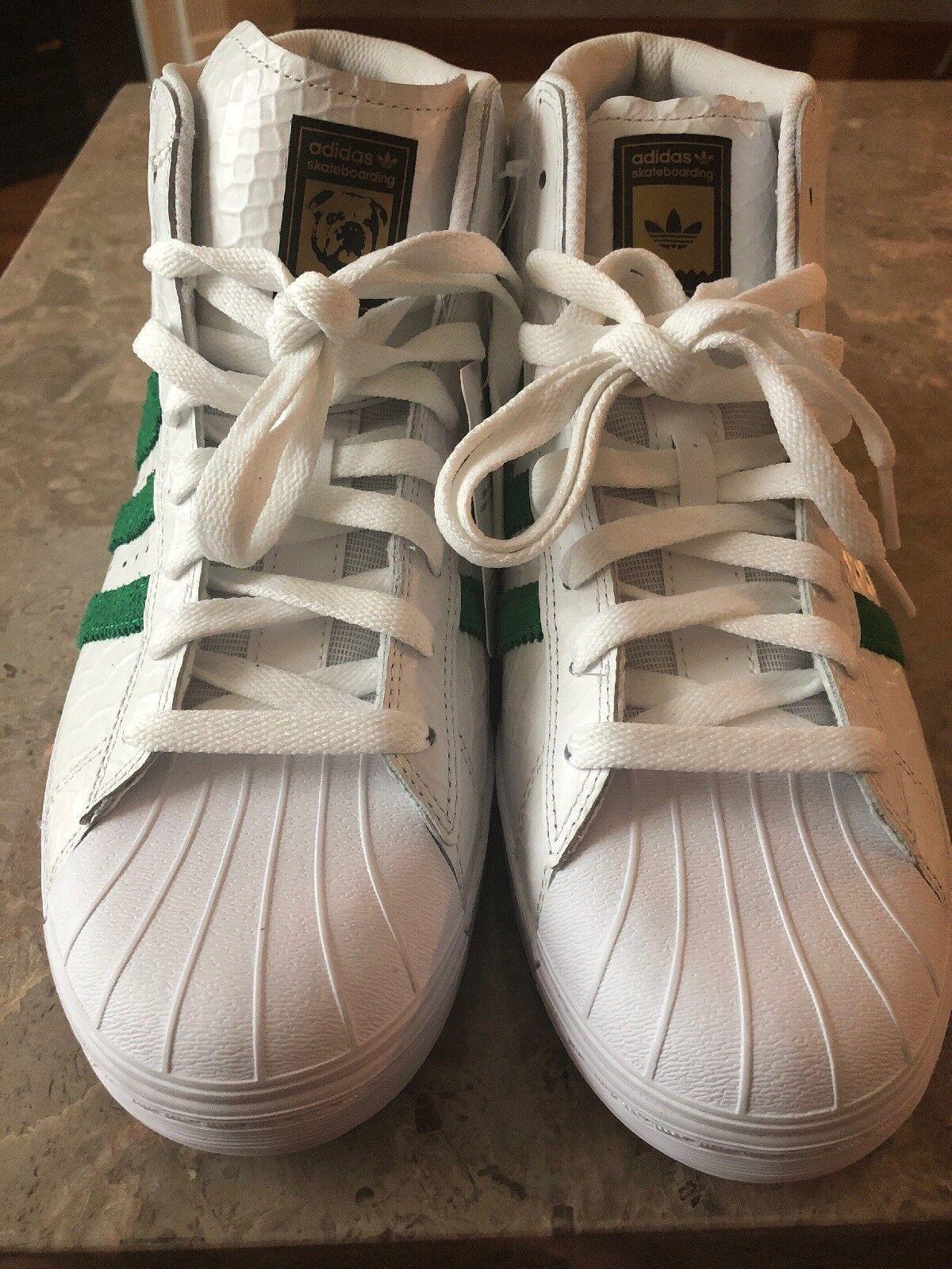 adidas promodel tyshawn jones premium / schlangenhaut vulc adv weiße / premium grüne größe 10 us - 1478e5