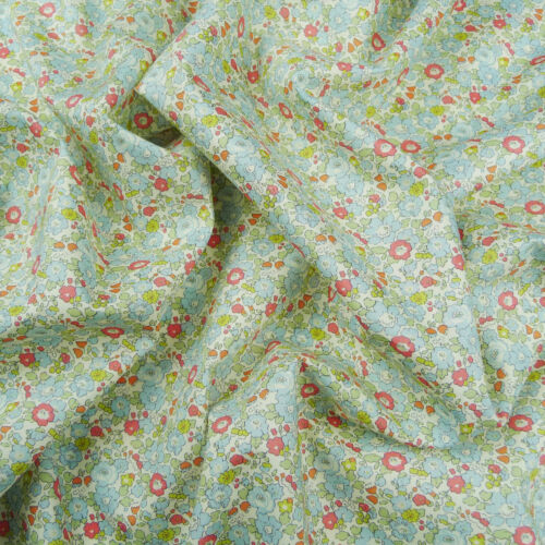 Liberty ~ Betsy Ann C Blue Tana Lawn fabric//Quilting Floral Light Nursery
