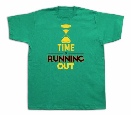 Hourglass time running out timer clock sandglass T-shirt funny event gift tee