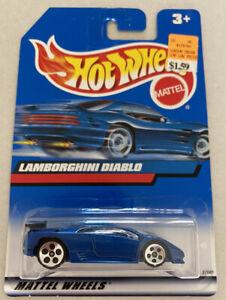 2000 HOTWHEELS LAMBORGHINI DIABLO Blu Vintage Nuovo di zecca! MOC! molto rara!
