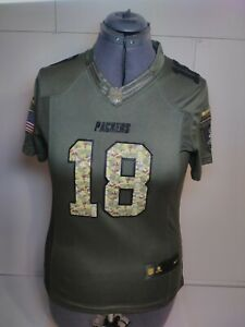 Details about Green Bay Packers Stitched Salute to Service Randall Cobb Jersey Size Medium