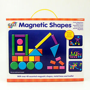 Magnetic-Shapes-Picture-Activity-Toy-with-Guide-Metal-Base-Galt-for-3