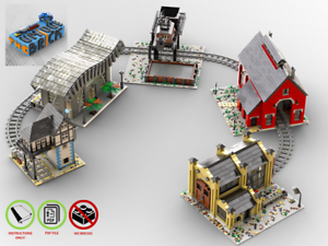 Eisenbahn-Modellsammlung-PDF-Bauanleitung-kompatibel-mit-LEGO-Steine