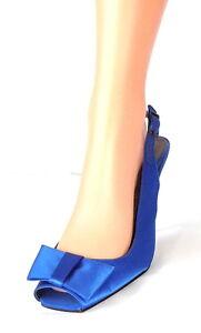 Blue Toes 10 Gr Satin Schuhe Peep Us con 41 Buffalo Décolleté London alti Blau tacchi 6qxIUw4FE4