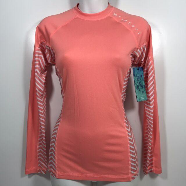 Rip Curl Womens Trestles Long Sleve Front Zip 50 UPF Sun Protection Rash Guard
