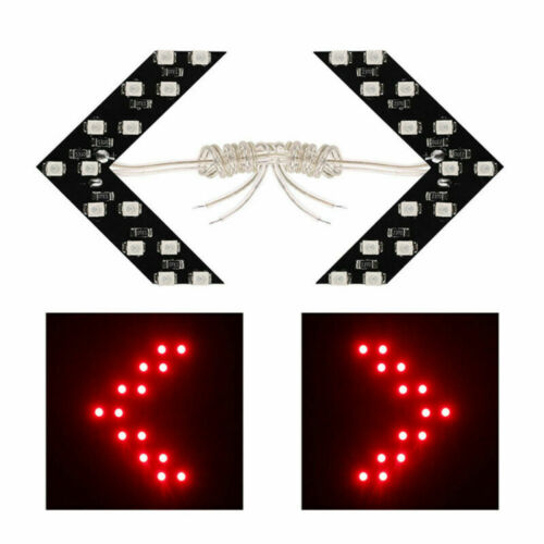 1Pair Red Car Rearview Mirror Panel Arrow 14SMD LED Turn Signal Indicator Lamp