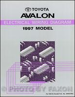 1997 Toyota Avalon Electrical Wiring Diagram Manual Condition Original
