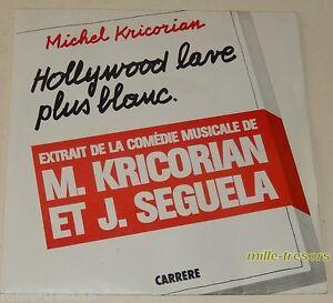 45-tours-Musique-PUB-HOLLYWOOD-lave-plus-blanc-M-KRICORIAN-et-J-SEGUELA