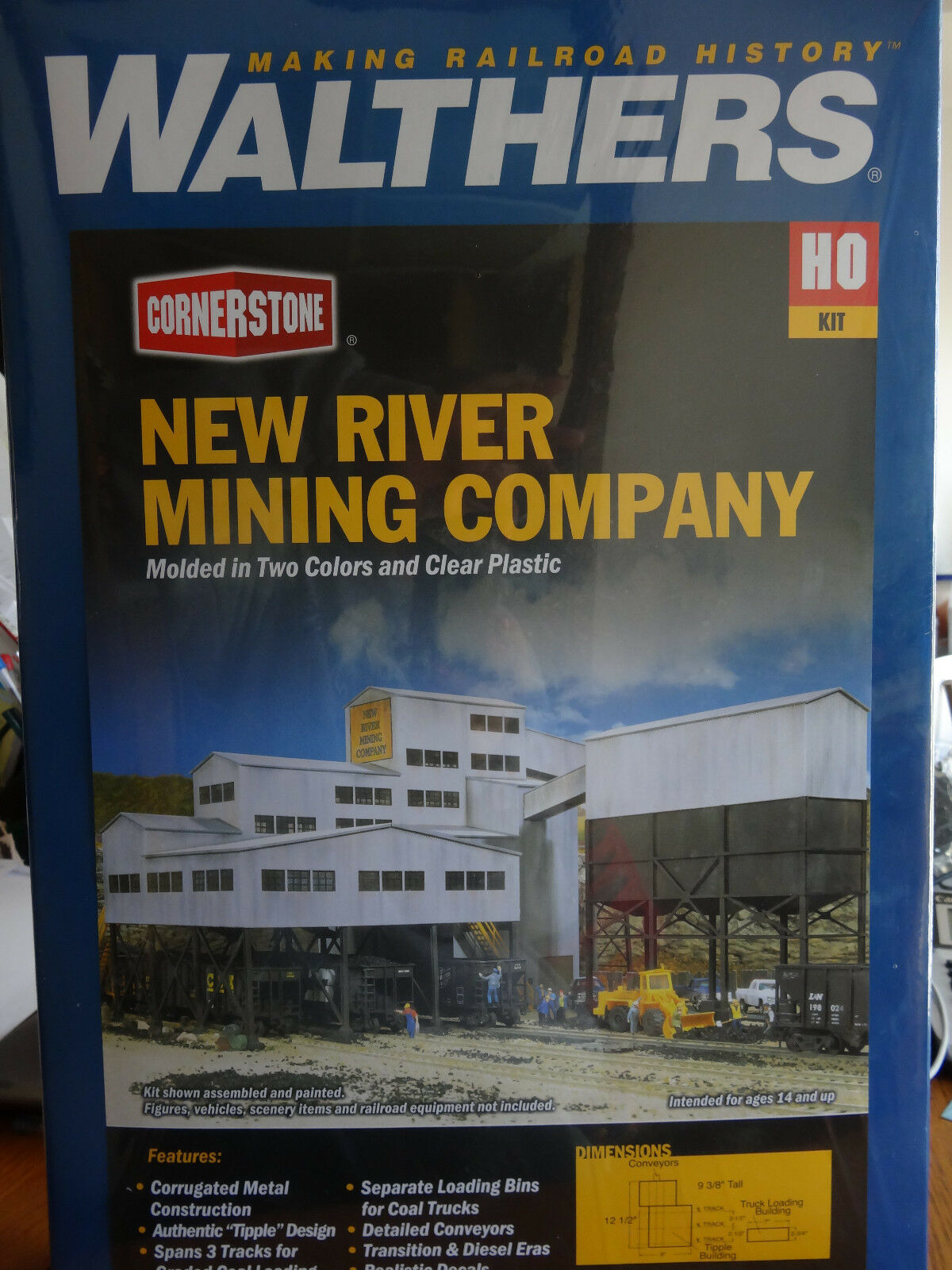 Walthers Cornerstone HO  933-3017 Nuovo River Mining Company  KIT  Plastic