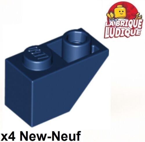 4x slope inverted pente inversée 45 2x1 bleu foncé//dark blue 3665 NEUF Lego