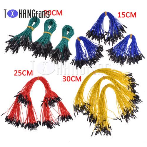 50PCS Dupont Wire Jumper Cable 2.54mm 1P-1P M-M//F-F//M-F Length:15CM20CM25CM30CM