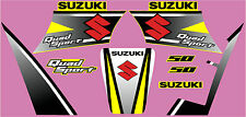 SUZUKI LT50A  GRAPHIC / DECAL KIT FACTORY STYLE YELLOW, WHITE OR RED