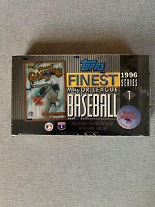 1996 Topps Finest Series 1 Baseball Box Factory Sealed NEW JETER REFRACTORS!!