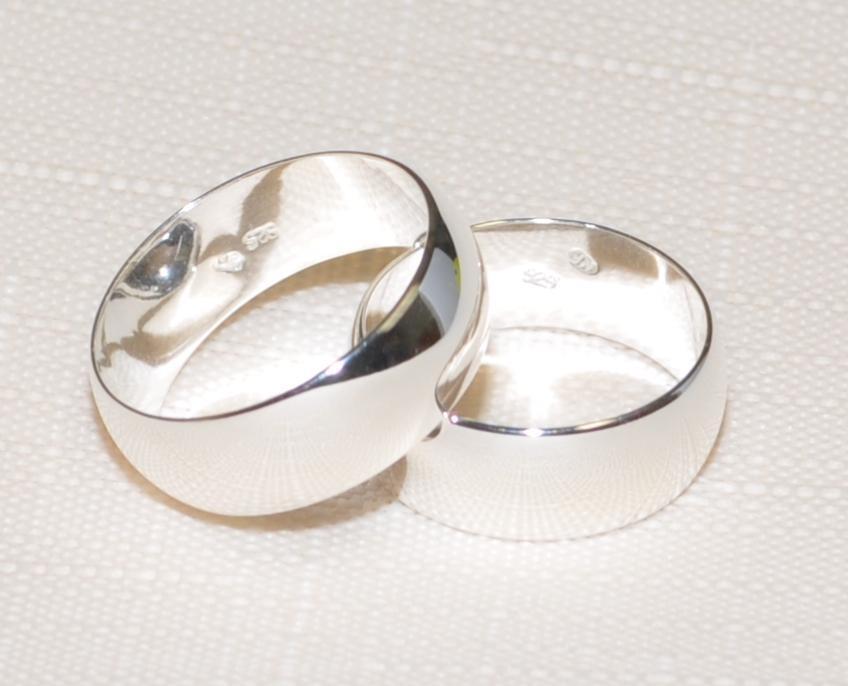 925 silver - Ehering - Trauring - Partnerring - 6 mm Breit - Alle Größen    TOP