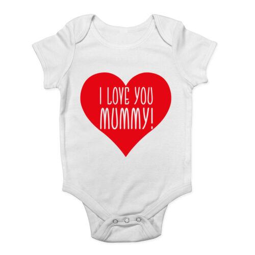 I Love you Mummy Boys Girls Bodysuit Vest Baby Grow