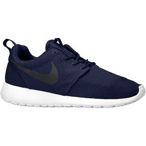 new style 16a32 2c67f ... norway image is loading new mens nike roshe run shoes midnight navy  e03e8 306df