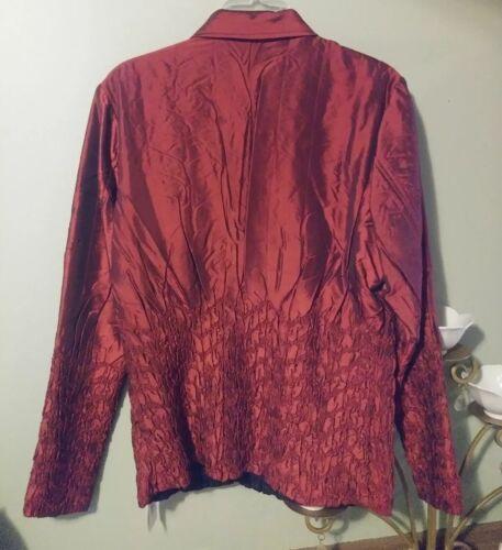Ubu Crinkle Nwt Black Milano Kvinders Reversible Jacket Red U8nUzO
