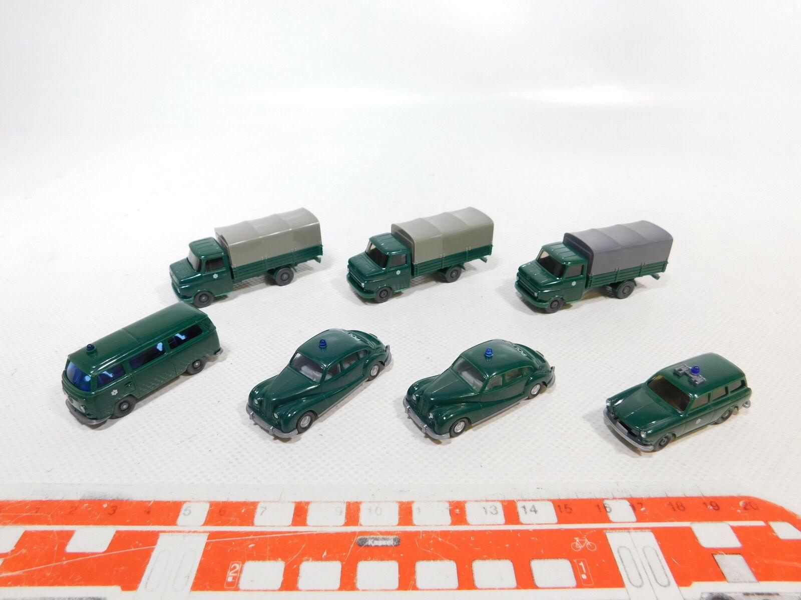 Ca485-0, 5x Wiking 1 87 h0 camión policía etc  Opel Blitz VW + + bmw 501 muy bien