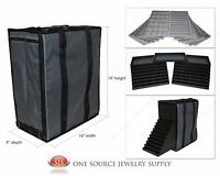 Large Carrying Case Jewelry Salesman Gray Travel Case & Jewelry Trays & Liners