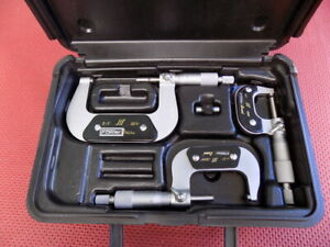 """New 6-12/"""" 6 PCS MICROMETER SET .0001 CARBIDE TIPPED WITH STANDARDS USA SELL"""