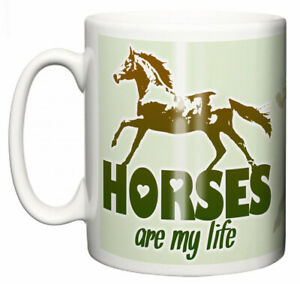 Dirty-Fingers-Equestrian-Mug-034-Horses-are-my-Life-034-Stable-Girl-Boy-Horsey-Gift