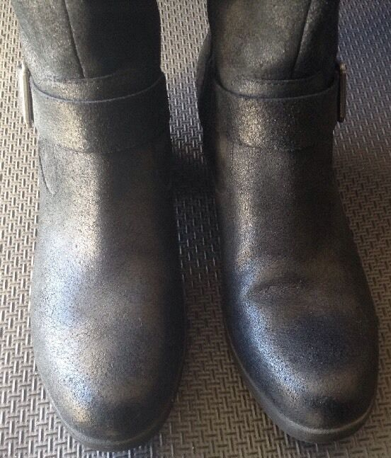 Korks By Kork Ease Black Leather Boots Size 9/40.5