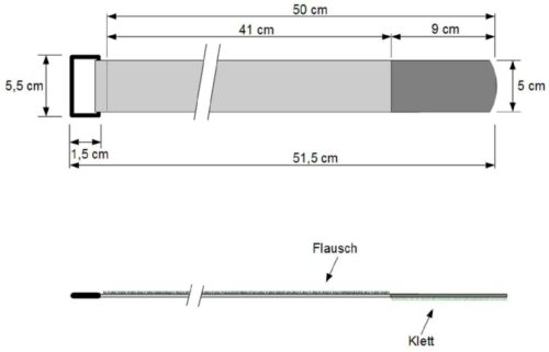 30 klettkabelbinder con ojal 500 x 50 mm negro bridas cinta de velcro cable velcro