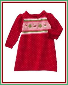 About nwt gymboree sz 18 24 cozy owl red fair isle bow sweater winter